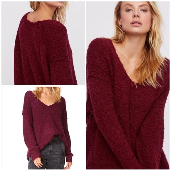 Free People Sweaters Lofty Vneck Sweater Poshmark